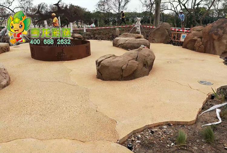 彩色砾石聚合物混凝土|上海亨龙环保美丽地球,