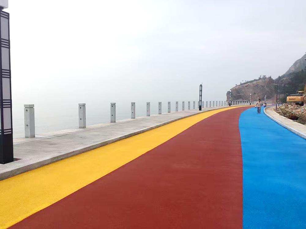 亨龙艺术彩色防滑道路,材料技术 ,厂家直供
