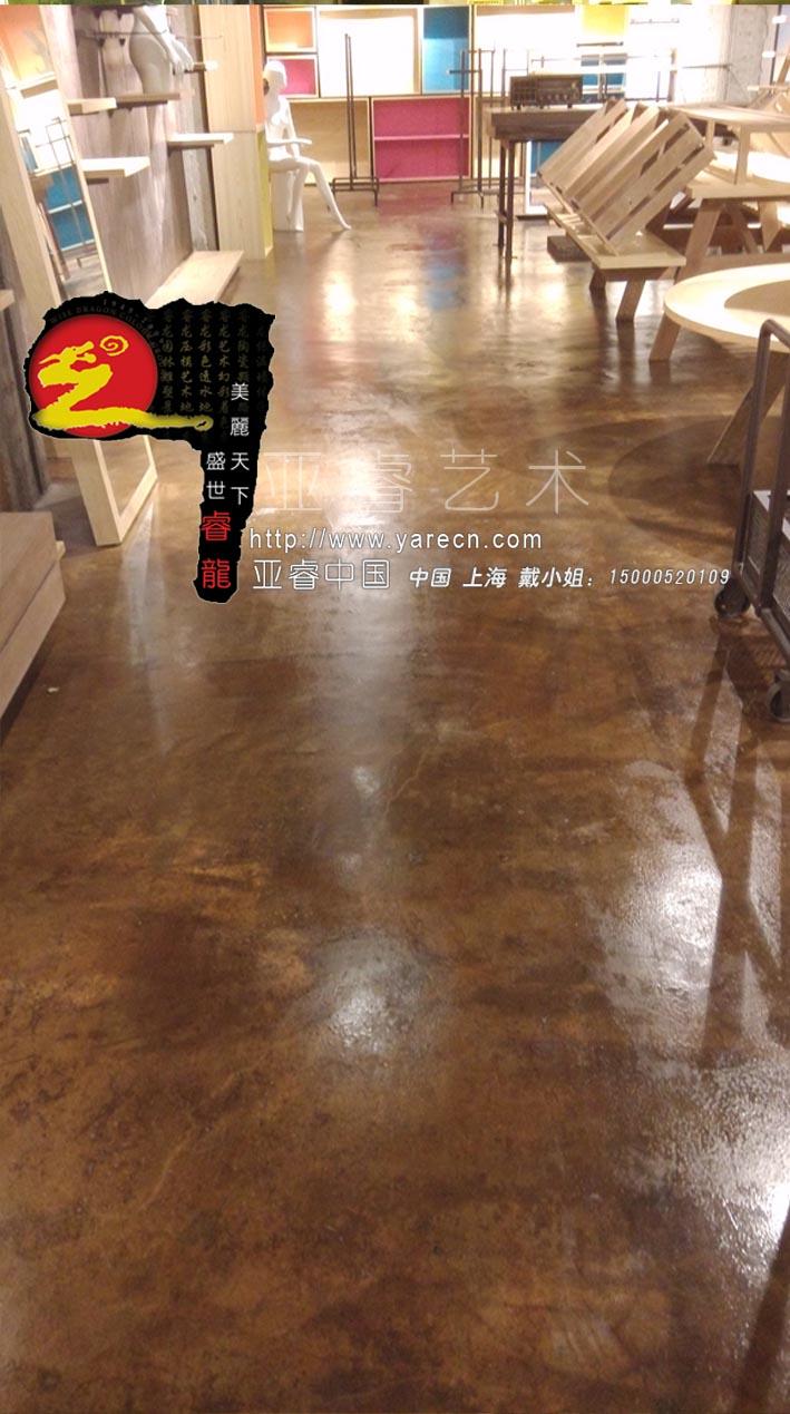 复古地坪水泥地面漆 耐麿环保室内外艺术幻地坪