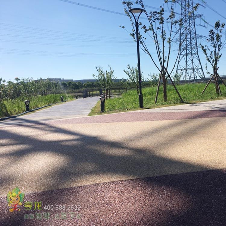 彩色聚合物砾石混凝土地坪  材料价格 销售厂家