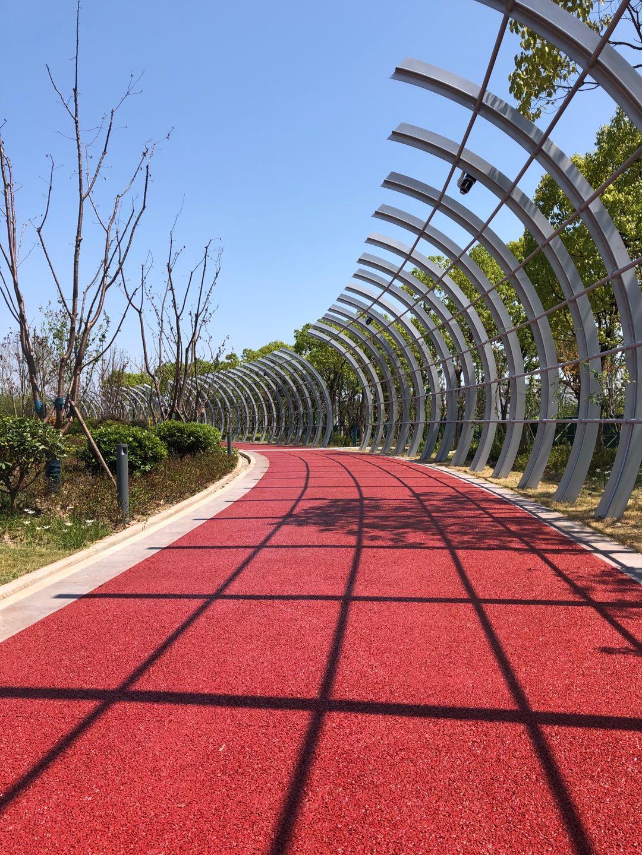 透水地坪强化剂 彩色透水海绵城市 绿色市政建设