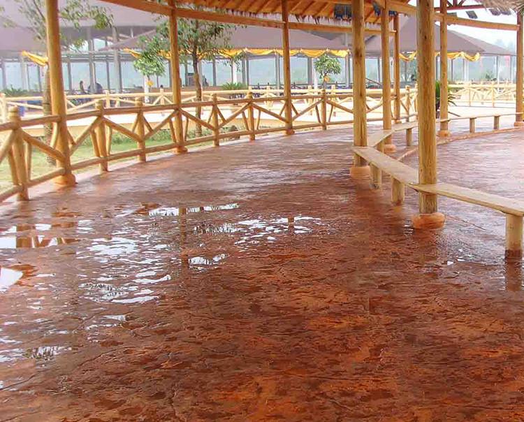 亨龙压花地坪材料压模模具混凝土保护剂地坪强