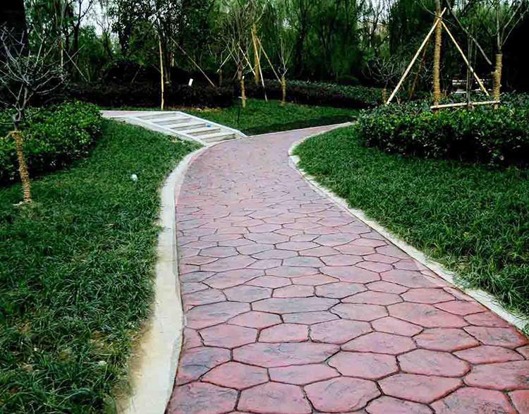 上海亨龙彩色压花地坪压模混凝土水泥路面广场