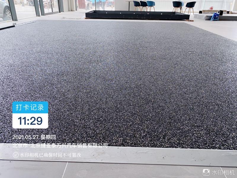 透水地坪胶筑石墙面胶彩石路面亨龙技术支持