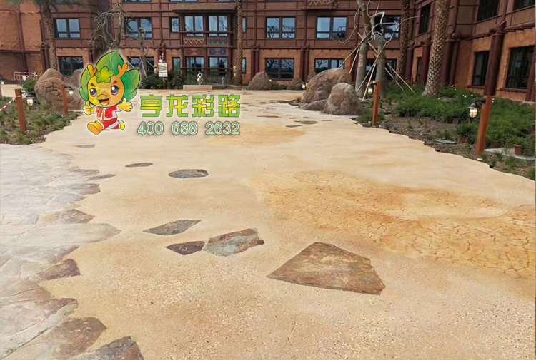 砾石聚合物混凝土压印,砾石聚合物混凝土压印
